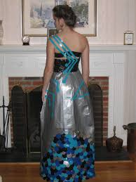 tomorrowhappensnow duct tape prom dress