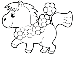 Full Image For Little Horse Preschool Coloring Pages Animals Free Of Zoo