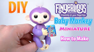 DIY Miniature Fingerlings Interactive Baby Monkey Toy With Box