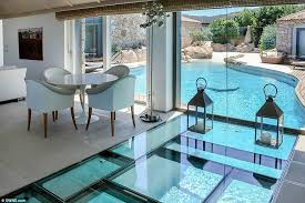Occupants And Guests Can Swim Underneath The Stunning Villa Amoras On Mediterranean Island Of