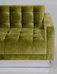 Tufted Velvet Sofa Bed by Deeply Tufted Floating Velvet Sofa For Sale At 1stdibs