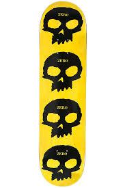zero team multi skull 7 75 deck black yellow buy at skatedeluxe