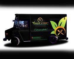 100 Green Food Truck Colorful Bold Service Car Wrap Design For