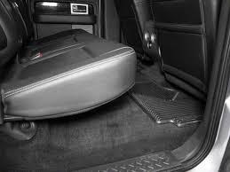 100 Heavy Duty Truck Floor Mats 2nd Seat Black 9710 F150 SuperCab SuperCrew