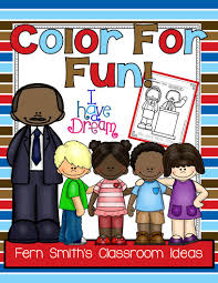 Fern Smiths FREE Martin Luther King Jr Color For Fun Printable Coloring Pages