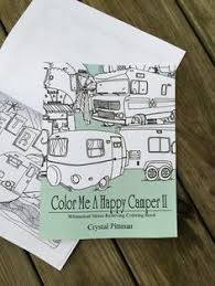 New Coloring Book Color Me A Happy Camper II Glamper By PittStar