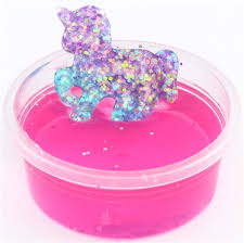 Hot Pink Glitter Unicorn Slime With Case Kawaii Mud Clay Jelly DIY 1