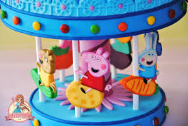 peppa pig cake decorations peppa pig s carousel cake topper cakecentral