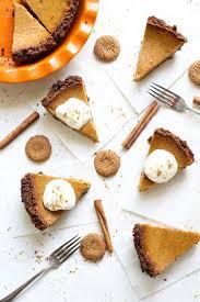 Pumpkin Pie With Gingersnap Crust Gluten Free by Cream Cheese Pumpkin Pie U0026 Gingersnap Crust Bessie Bakes