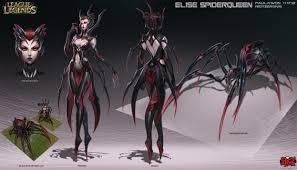 conception la reine araignée tisse sa toile league of legends
