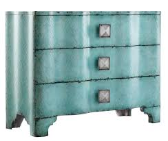 Raymour And Flanigan Lindsay Dresser by Hooker Furniture Mélange Turquoise Crackle Chest With Rippled