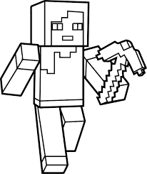 Minecraft Coloring Pages Steve Games