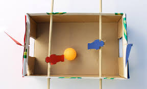 Easy Craft How To Make A Shoebox Foosball Game
