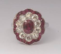 deco ruby and ring ruby and engagement ring deco