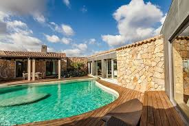 The Beautiful Swimming Pool Is Jewel Of Villa Cutting Through Living Room And