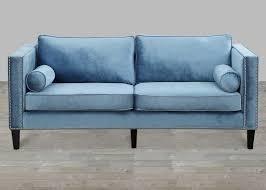 Tufted Velvet Sofa Furniture by Velvet Sofa With Nailheads