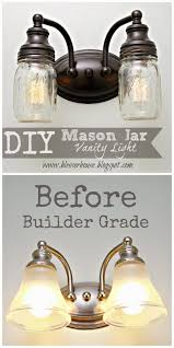 Chandelier Over Bathroom Vanity by Best 25 Mason Jar Light Fixture Ideas On Pinterest Mason Jar