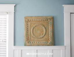 Antique Ceiling Tiles 24x24 by Repurposed Vintage Tin Ceiling Wall Decor Robb Restyle