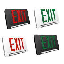 light pipe led exit emergency combo choose white or black