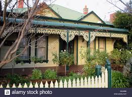 100 Melbourne Victorian Houses House Yarraville Australia Stock Photos