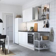 enhet küche weiß hochglanz weiß 223x63 5x222 cm