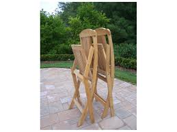 Oakland Living Wood Folding Event Wooden Chairs In Natural