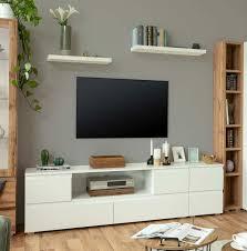 wohnzimmer led tv board media 6128 hifi möbel lowboard in