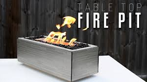 Making A Table Top FIRE PIT YouTube