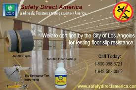 safety direct america coefficient of friction test slip