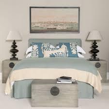 King Bed Linen Valance Blue OKA