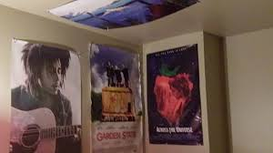 Posters On The Walls Of A Dorm Room Including Bob Marley Garden State Movie