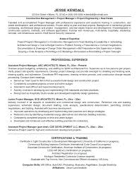 Project Manager Resume Objective Examples Top Dissertation Within For