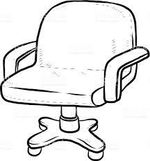 dessiner une chaise fauteuil de bureau en dessin animé cliparts vectoriels et plus d