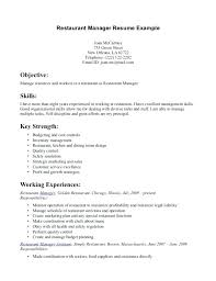 Resume Examples For Fast Food Restaurant Crew