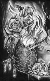 Pencil Drawings Of Tattoos Pin Art Love Anime Images Couple Landscape Heart