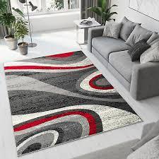 teppich wohnzimmer wellen verwischt modern ökotex esszimmer