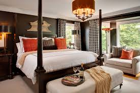 Mesmerizing Contemporary Mens Bedroom Ideas With White King Bed And Bench Completed Table Lamp On