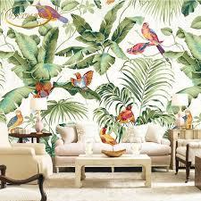 benutzerdefinierte 3d fototapete tropical garten blume vogel