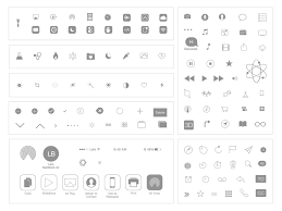 Apple iOS 7 Icons Natives and Basics Sketch freebie Download