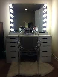 best light bulbs for makeup vanity white wooden makeup table with