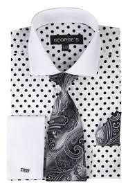 george u0027s men u0027s 100 cotton polka dot pattern dress shirt at amazon