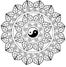 Adult Mandala Coloring Pages Free Kids Printable For