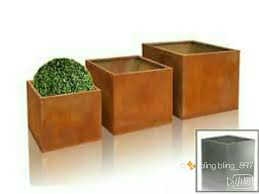 Cheap Rustic Large Flower Pots Planters For Corten Steel