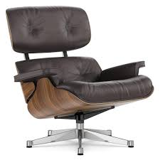 Vitra Lounge Chair, Nussbaum Schwarz Pigmentiert, Chocolate, 89 Cm,  Aluminium Verchromt