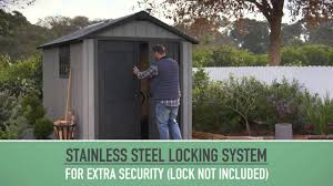 Keter Stronghold Shed Instructions by Keter Oakland Shed Youtube