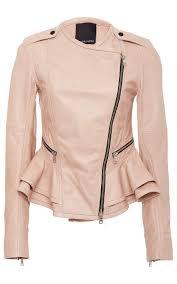 shane leather peplum jacket by marissa webb moda operandi