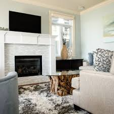 Inspiration For A Mid Sized Beach Style Open Concept Living Room Remodel In Vancouver With