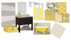 Yellow And Gray Bathroom Decor by Yellow Bathroom Decorating