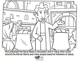 Kids Coloring Page From Whats In The Bible Showing Paul Preaching Volume Spreading Good News
