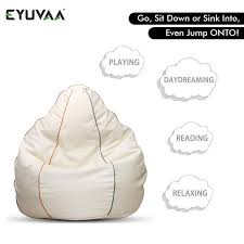 Eyuvaa 3XL Extra Large Leatherette Bean Bag Cover | Kids And Adults ... Bean Bag Chairspagesepsitename Kids Bean Bags King Kahuna Beanbags Reading Lounge Chair Pink Target Bag Gardenloungechairs Thunderx3 Db5 Series Gaming Beanbag Cover Temple Webster Fascating Nook Ideas For Renohoodcom Hibagz Review Cheap Gamerchairsuk Chairs White Large Tough And Textured Outdoor Bags Tlmoda Giant Huge Extra Add A Little Kidfriendly Seating To Your Childs Bedroom Or